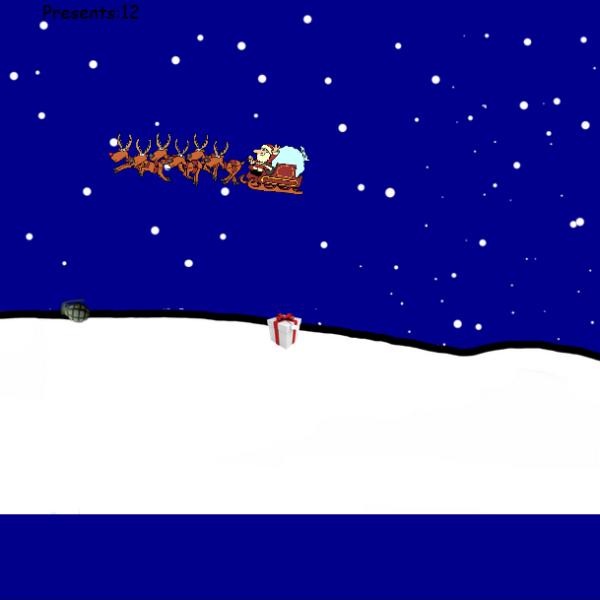 """Новорічна гра """"Санта збирає подарунки"""""""
