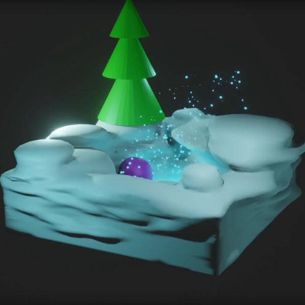 Анімована листівка 3Д